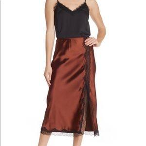 Topshop Lace Trim Skirt